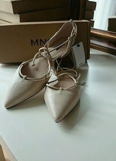 Kup mój przedmiot na #vintedpl http://www.vinted.pl/damskie-obuwie/balerinki/13091101-balerinki-typu-lace-up-mango-nude