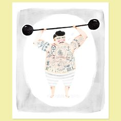 I think it would be a totally normal response to design your entire nursery around this print. (Strong Man by Amy Borrell)