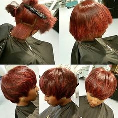 STYLIST FEATURE  Cute mid length bob ✂️ on #naturalhair by #atlstylist @kbbsalon ❤️ Pretty color #voiceofhair ========================== Go to VoiceOfHair.com ========================= Find hairstyles and hair tips! =========================