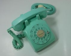 Vtg 1964 Western Electric Blue Desk Top Bell System Retro Phone G-3