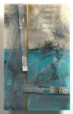 KARI MINNICK,  Kiln glass and vitreous paint