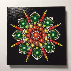 Hand Painted Mandala on Canvas, Mandala Meditation, Dot Art, Calming, Healing, #401 by MafaStones on Etsy