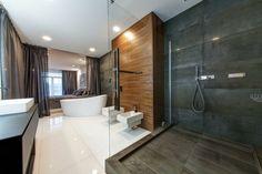 Wohnung einrichten in Grau - Offene Dusche