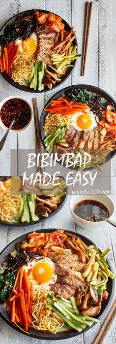 Bibimbap - Korean Mixed Rice - Authentic Bibimbap Recipe   ifoodblogger.com