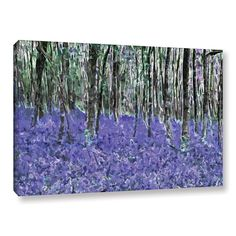 ArtWall Ken Skehan's 'Natural Abstract Bluebell Woods' Gallery Wrapped Canvas