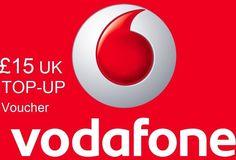 £15 VODAFONE MOBILE TOPUP VOUCHER, VODAFONE NETWORK TOP-UP VOUCHER UK