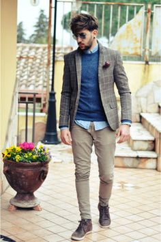 Not sure if I'd wear the blazer, but this looks nice... #menswear #style #layering