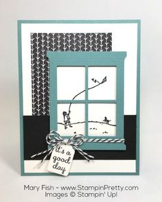 Hearth & Home Thinlits Dies and coordinating Happy Home stamp set - Created by Mary Fish, Independent Stampin' Up! Demonstrator.  Details, supply list and more card ideas on http://stampinpretty.com/2016/01/a-peek-thru-the-window-of-happy-home.html