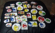 M & M's scrapbooking card making tags die cuts Red by amylaugh, $5.95