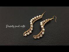 Diy Thread Earrings, Beaded Earrings Patterns, Seed Bead Earrings, Jewelry Patterns, Diy Earrings, Earrings Handmade, Seed Bead Jewelry Tutorials, Bead Jewellery, Beaded Jewelry