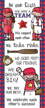 BASEBALL - Classroom Decor: LARGE BANNER, In Our Class / red - Tap the link to shop on our official online store! You can also join our affiliate and/or rewards programs for FREE! Sports Theme Classroom, 3rd Grade Classroom, Classroom Door, Classroom Design, Kindergarten Classroom, Classroom Ideas, Elementary Counseling, Career Counseling, Future Classroom