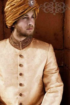 This is the image gallery of Pakistani Stylish Groom Sherwani Wedding Dresses 2014. You are currently viewing Latest Groom Wear Collection 2014. All other images from this gallery are given below. Give your comments in comments section about this. Also share stylehoster.com with your friends.