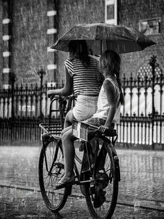 Riding tandem in the rain
