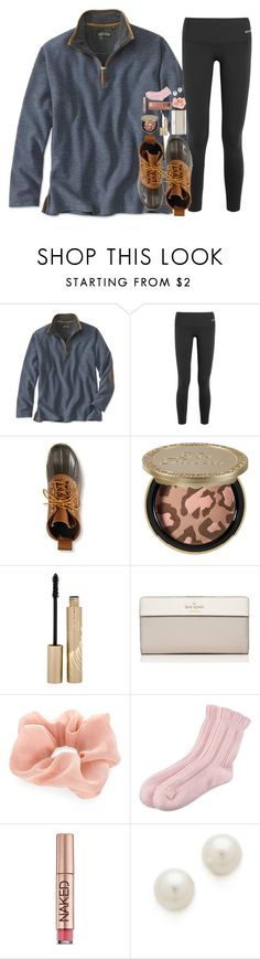 """First day of fall tomorrow!!!!"" by pineappleprincess1012 ❤ liked on Polyvore featuring Bodyism, L.L.Bean, Too Faced Cosmetics, Stila, Kate Spade, Accessorize, Urban Decay, Falke, Kenneth Jay Lane and Kendra Scott"
