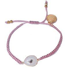 Pulsera Minimal Stone Cotton rosa