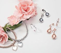 Rose gold or silver? We can't decide which we love more! #loveargento #argentojewellery #silver #rosegold #heart #earring #bow #ring #bracelet #rose #flower #spring #wedding #festival #cochella #style #fashion #fblogger #flatlay #details #decisions #love #pink #pretty #weekend