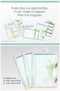 Click to shop now or Save to view later! Light Blue Weekly Agenda 2017 Printable, Floral Color Weekly Agenda A4 pdf, Weekly Schedule A4 pdf, Hourly Printable Weekly Scheduler Digital Download.
