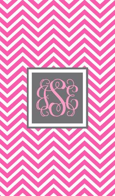 monograms on pinterest monogram wallpaper pink chevron