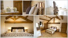 Heaton House Farm - Luxury Accommodation - Guest Rooms - Wedding Guest Accommodation - Oak Beams - Rustic - Beautiful Bedroom