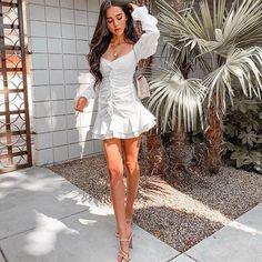 Sexy White Dress, White Ruffle Dress, White Dress Summer, Dress Black, Cheap Dresses, Sexy Dresses, Pretty Dresses, Rust Color Dress, White Off Shoulder