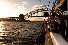 Sydney Tall Ship Twilight Dinner Cruise with open bar fr. $121 per person. #Sydney - #Australia - #travel