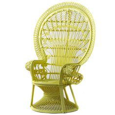 Yellow Peacock Chair - Captivated by Cane - Temple & Webster presents