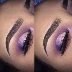 "1,206 Likes, 11 Comments - @undiscoveredmuaa on Instagram: ""Gorgeous purple half cut crease  MUA: @elitemakeup__ ✨ tag and follow me for a chance to be…"""