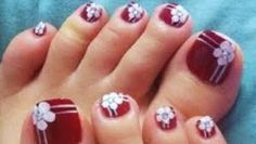 With the availability of many stylish toe nail art designs, you can easily make a style statement at any wedding and flash your fabulous. Pretty Toe Nails, Cute Toe Nails, Toe Nail Art, Easy Nail Art, Creative Nail Designs, Best Nail Art Designs, Creative Nails, Toenail Art Designs, Nail Polish Designs