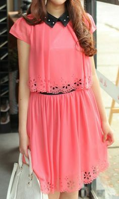 http://www.ahaishopping.com/ Cute lace-trimmed chiffon dress 2151 Rose Cute lace-trimmed chiffon dress 2151 Rose $28.99