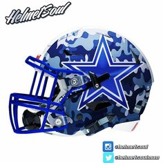 Last one- #matte blue camo for the this #dallascowboys #helmet #design…