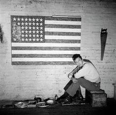 Jasper Johns, circa 1955 by Robert Rauschenberg