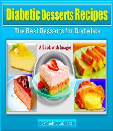 Diabetic desserts recipes book cover