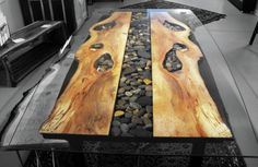 sticks and stones - Steel Root Furniture, modern wood and metal furniture, slab furniture, natural furniture, slab dining tables, live edge tables, organic furniture, ben jackson asheville, don jackson asheville, stone tables, hand made lamps, dog feeders
