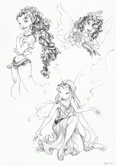 Disney Fairies: Fira, Prilla and Rani Artwork by LitttleGreenFrog