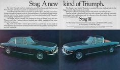 Advert for the North American market version of the ill fated British Leyland GT car the ZTriumph Stag