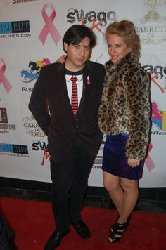 Pre-Grammy Breast Cancer Awareness Event. Vairon Perez with Javelyn on the Red Carpet.