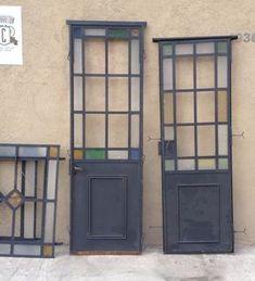 elcarreton puertas de hierro antiguas vidrio repartido