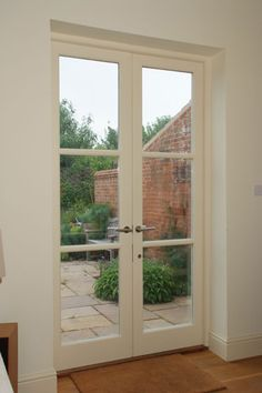 Glazed French doors