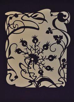 Art Nouveau, paper cutting cards on Behance