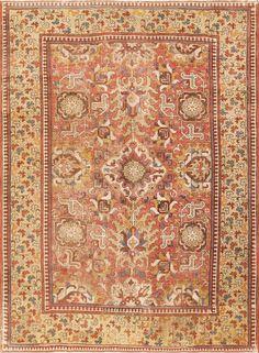 Rare and Collectible 17th CenturyAntiqueCaucasian Kuba Blossom Carpet, Country of Origin / Rug Type: Caucasian Rugs, Circa Date: Late 17th Century -True to many exquisite Caucasian rug designs, this breathtaking antique Kuba  ...