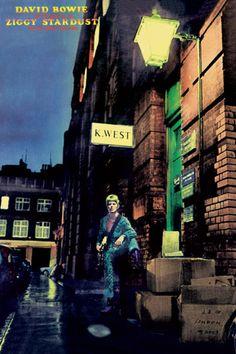David Bowie Lyrics, David Bowie Poster, David Bowie Ziggy, David Bowie Music, David Bowie Art, Ziggy Stardust Album Cover, Bowie Ziggy Stardust, David Bowie Album Covers, Music Album Covers
