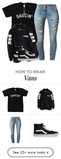 """""""Untitled #2151"""" by dreakagotswagg on Polyvore featuring Faith Connexion and Vans not a fan of the T , just the shoes"""
