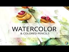 shading flowers with colored pencils over an abstract watercolor background L I S T O F S U P P L I E S Abstract Watercolor Tutorial, Watercolor Flowers Tutorial, Watercolor Paintings Abstract, Watercolour Tutorials, Watercolor Techniques, Watercolor Books, Watercolor Projects, Watercolor Pencils, Watercolor Background