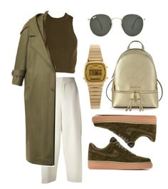 you're cute by stephfvo on Polyvore featuring polyvore fashion style Preen Chloé NIKE Michael Kors Casio Ray-Ban clothing
