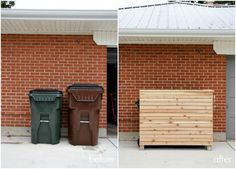 DIY trash enclosure b+a 1