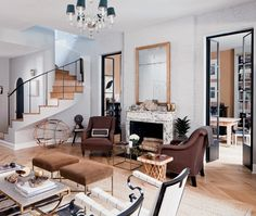 Nate Berkus's New York Home    Warm, neutral colours, a carefully curated collection of antiques and beloved furniture give Nate's family room character and timeless style.