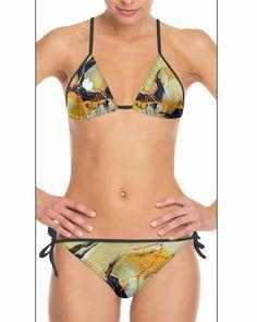 DESIGNER BIKINI 🥰 MIT ORIGINALEM KUNSTWERK 'PERSPEKTIVE' VEREDELT. Als Einzelanfertigung in den Grössen XS bis 4XL erhältlich. #bikini #bademode #trends #sommer #damen Leggings, Shopper, Neue Trends, Designer, String Bikinis, Swimwear, Fashion, Bikini Swimwear, New Looks