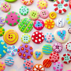 hand painted buttons by Laurie Star
