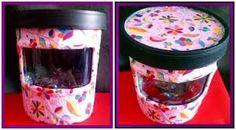 reciclando envases plasticos de helado - Buscar con Google                                                                                                                                                     Más