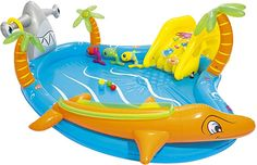 Mega!!!!!  Spielzeug, Sport & Outdoor, Strand- & Badespielzeug, Planschbecken Baby Swimming, Swimming Pools, Water Play For Kids, Portable Air Pump, Inflatable Slide, Play Pool, Play Centre, Outdoor Toys, Porto